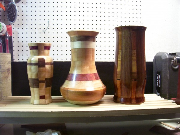 first run of vases...